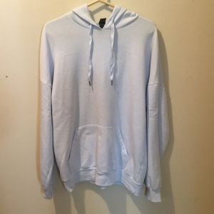 Oversized blue hoodie